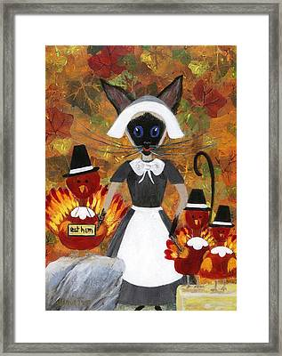 Siamese Queen Of Thanksgiving Framed Print by Jamie Frier