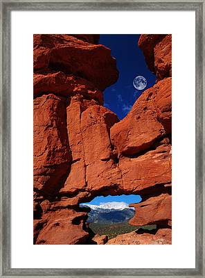 Siamese Twins Rock Formation At Garden Of The Gods Framed Print