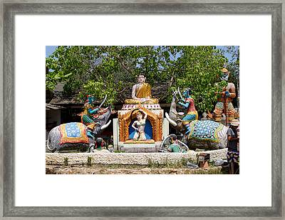 Siamese Wat Garden With Sculptures Framed Print