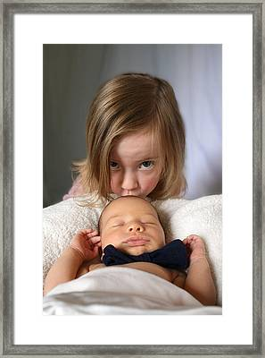 Sibling Love Framed Print
