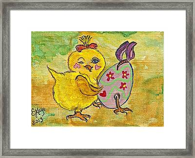 Framed Print featuring the painting Sibling Rivalry by Ella Kaye Dickey