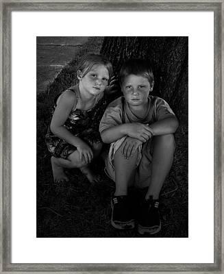 Siblings Framed Print by Julie Dant