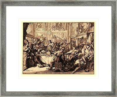 Sic Itur Ad Astra Scilicet, Hooghe, Romeyn De Framed Print by Litz Collection