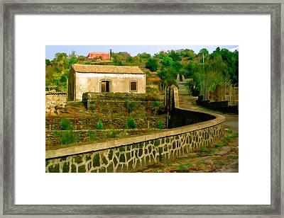 Sicilan Roadside View Framed Print