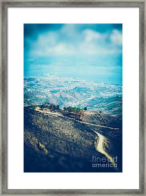 Framed Print featuring the photograph Sicilian Land After Fire by Silvia Ganora