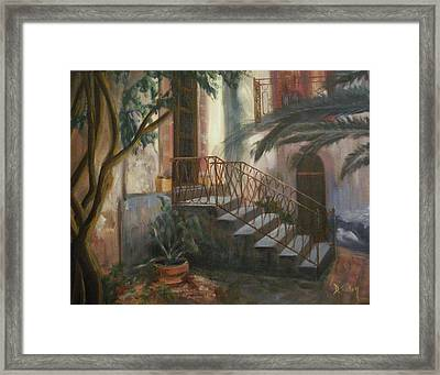 Framed Print featuring the painting Sicilian Nunnery by Donna Tuten