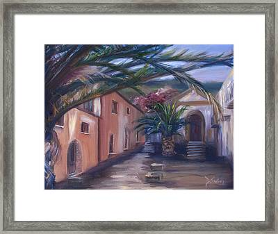 Framed Print featuring the painting Sicilian Nunnery II by Donna Tuten
