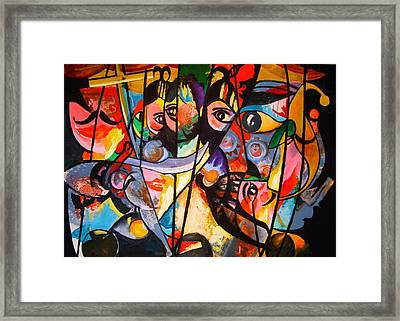 Framed Print featuring the painting Sicilian Puppets I by Georg Douglas