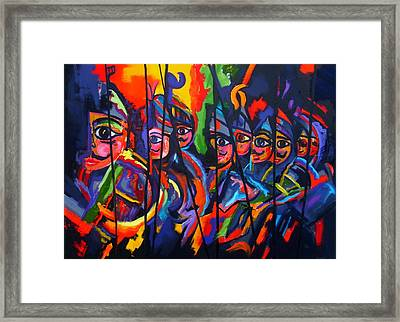 Framed Print featuring the painting Sicilian Puppets II by Georg Douglas