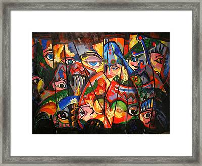 Framed Print featuring the painting Sicilian Puppets IIi by Georg Douglas