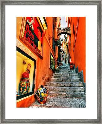 Sicilian Steps Framed Print