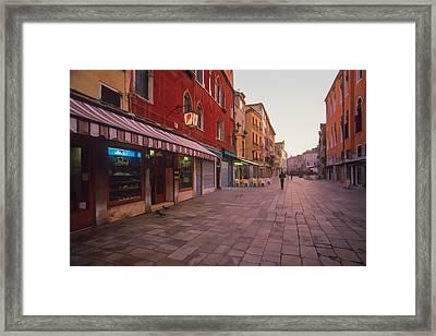 Sicilian Street Scene Framed Print by Cliff Wassmann