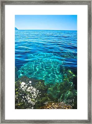 Sicilian Tranquility At Sea Framed Print by Liesl Marelli