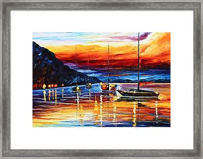 Sicily Messina Framed Print by Leonid Afremov