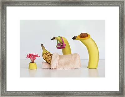 Sick Banana Framed Print