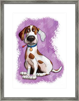 Sick Puppy Framed Print