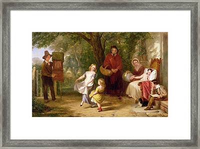 Sickness And Health Framed Print by Thomas Webster