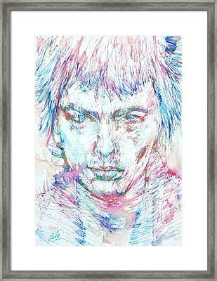 Sid Vicious - Colored Pens Portrait Framed Print