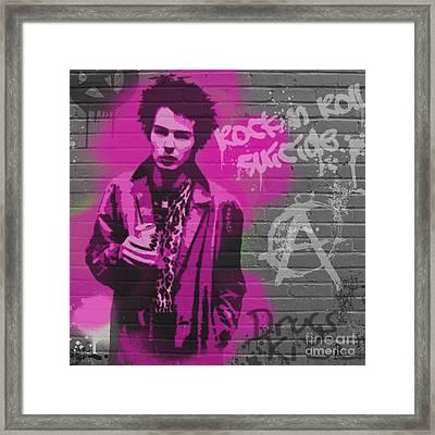 Sid Vicious Framed Print by Paul Green