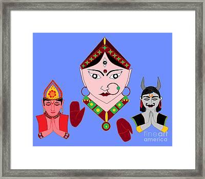 Siddhidatri Framed Print by Pratyasha Nithin