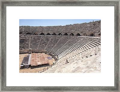 Side Amphitheatre Interior Framed Print by Antony McAulay