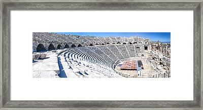 Side Amphitheatre Panorama Framed Print by Antony McAulay