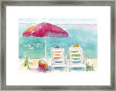 Side By Side At The Sea Framed Print by Pat Katz