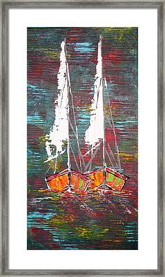 Side By Side - Sold Framed Print