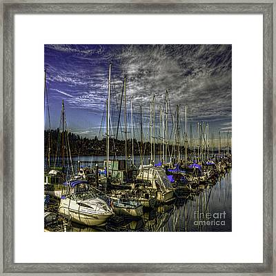 Framed Print featuring the photograph Side By Side by Jean OKeeffe Macro Abundance Art
