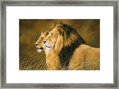 Side By Side Framed Print by Lucie Bilodeau
