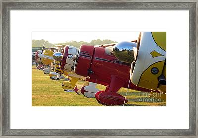Side By Side. Oshkosh 2012 Framed Print