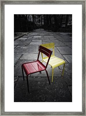 Side By Side Framed Print by Russell Styles