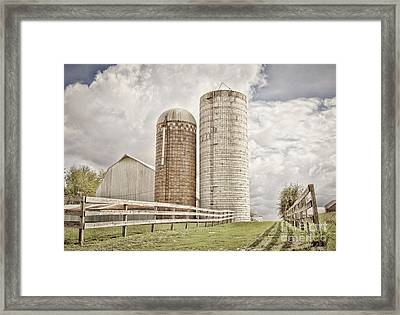 Side By Silo Framed Print