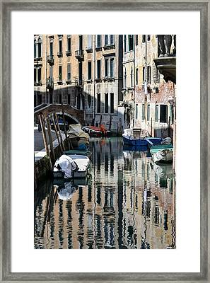 Side Canal Venice Framed Print