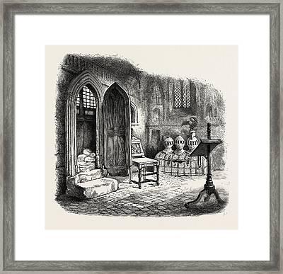 Side Chapel In Warwick Church, Uk, Britain Framed Print