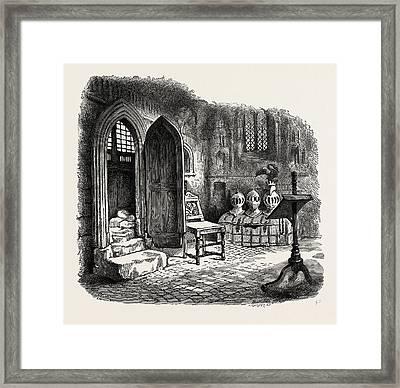 Side Chapel In Warwick Church, Uk Framed Print