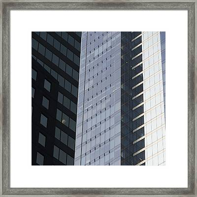 Side Of An Office Towers With Glass Framed Print by Keith Levit