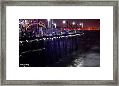 Side Of The Pier - Santa Monica Framed Print by Gandz Photography