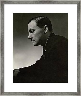 Side Profile Of Eduardo Garcia Benito Framed Print