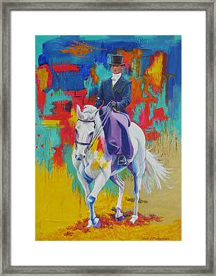 Side Saddle Contemporary Framed Print by Tomas OMaoldomhnaigh
