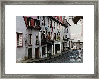 Side Street Cafe Framed Print by Cedric Hampton