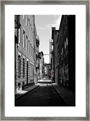 Framed Print featuring the photograph Side Street On The North End by Nadalyn Larsen