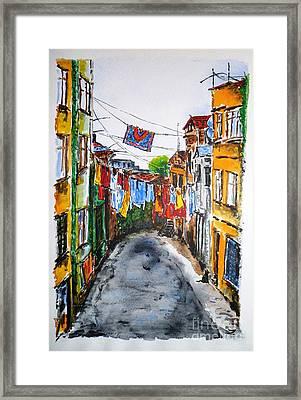 Side Street Framed Print by Zaira Dzhaubaeva