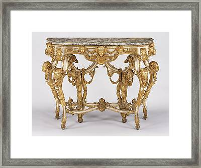 Side Table Unknown Italy, Europe About 1760 - 1770 Carved Framed Print