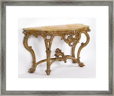 Side Table Unknown Italy, Sicily Framed Print
