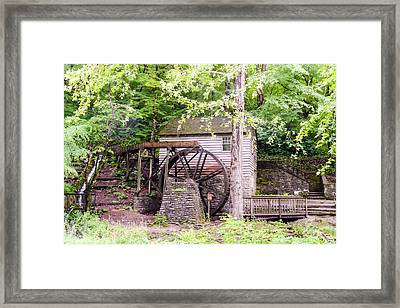 Side View Of Rice Grist Mill Norris Dam State Park Tennessee Framed Print by Cynthia Woods