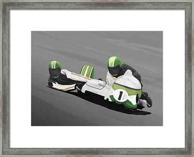 Sidecar Racer Framed Print by MOTORVATE STUDIO Colin Tresadern