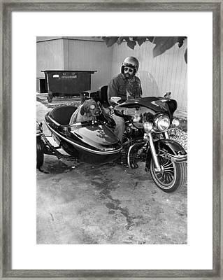Sidecar Rebel Dog Framed Print
