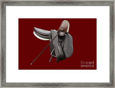 Sidesaddle And Crop Framed Print