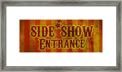 Sideshow Entrance Sign Framed Print by Jera Sky